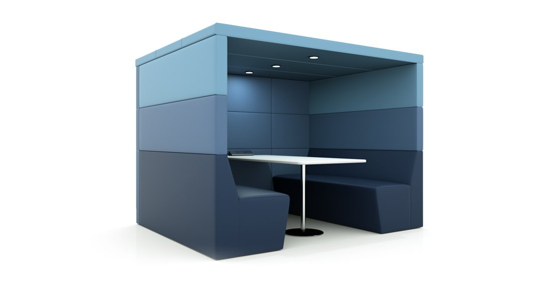 Citrus Seating 4 Person Shelton Office Booth