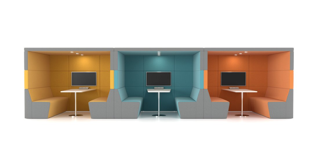 Citrus Seating - Shelton Workspace Booths Office