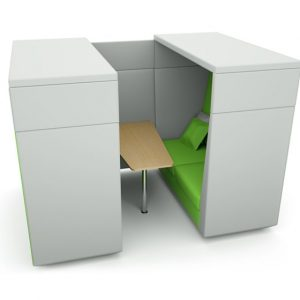 Citrus Seating James Office Booth with Cantilevered Table Work Space