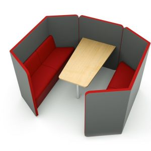 Citrus Seating Peter 4 Person Work Space Booth Office Pod