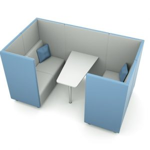 Citrus Seating Daisy Office Booth with Workspace Table