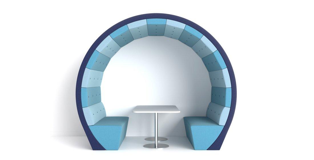 Citrus Seating Ocean Circular Booth Office Seating Workspace Pod