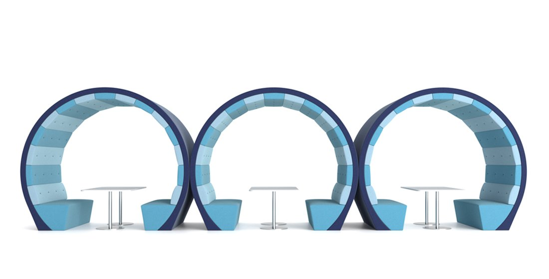 Citrus Seating Ocean Circular Booths and Pods Office Seating