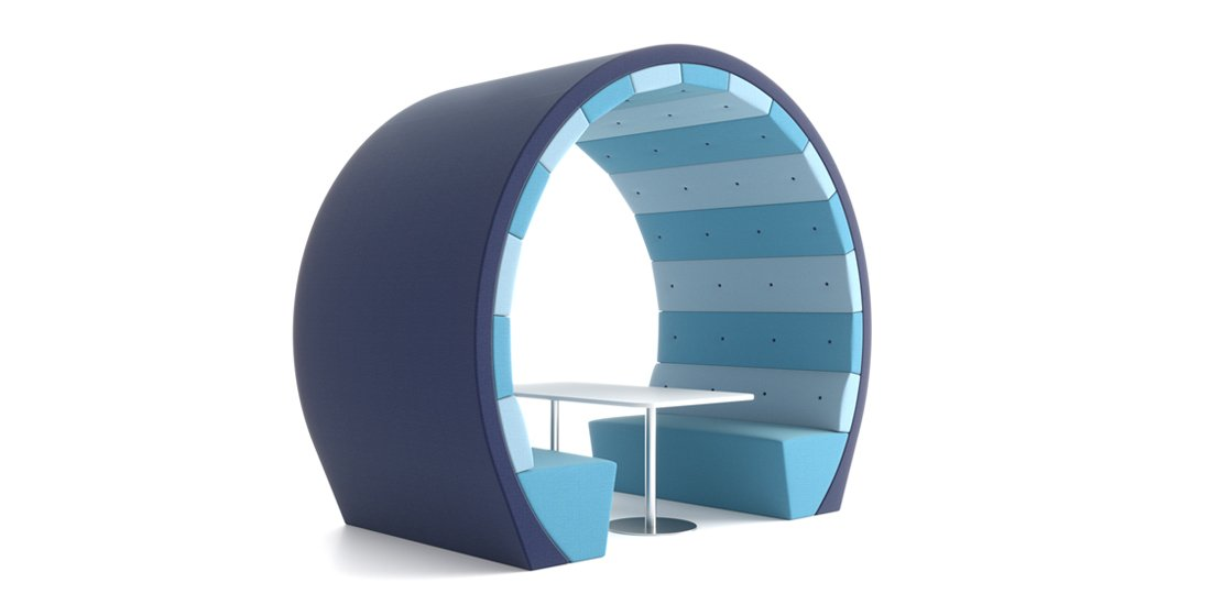 Citrus Seating Ocean Circular Pods and Booths Office Seating